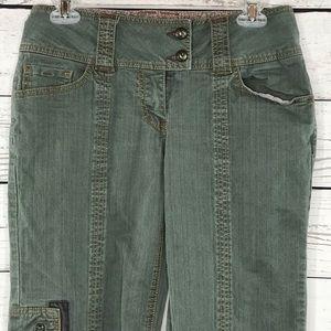 CAbi Pants Zip Pockets Wide Leg Low-Rise 5-Pocket